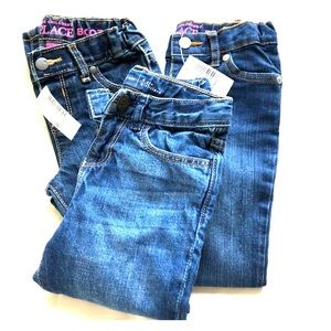 Lot of Size 4T girls jeans 2 are NWT one is GUC